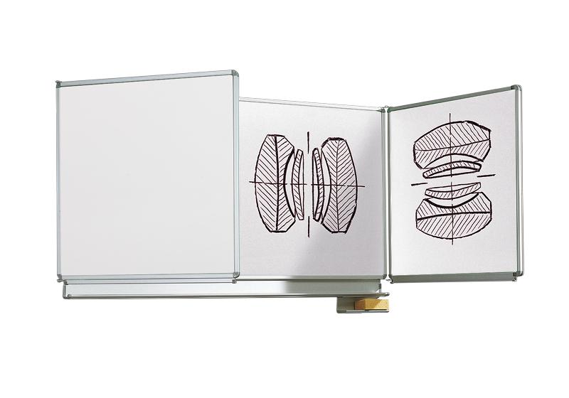 VARIO fehér oldalszárnyas zománc-acél filctollas táblák
