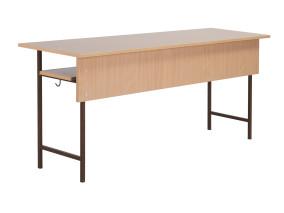 12.Négyzetcsõvázas tanulóasztal háromszemélyes