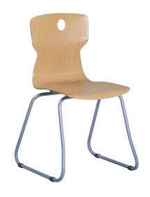 24.Szánkótalpas ergonómikus tanulószék kéznyílással