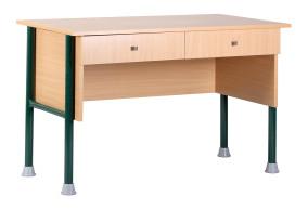 Botond kétfiókos tanári asztal