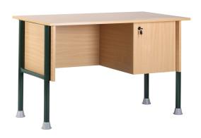 Botond tanári asztal fiókos szekrénnyel