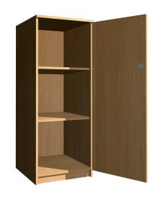 Egyajtós zárt polcos szekrény