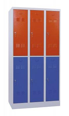 FITTMet 25 osztott hatszemélyes öltözőszekrény