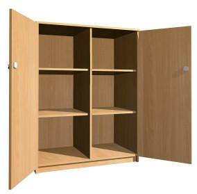 Kétajtós polcos szekrény