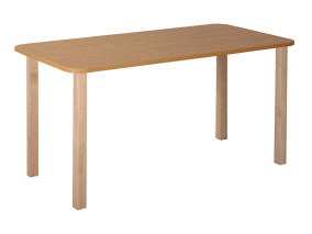 Mese fa téglalap asztal 120x60 cm