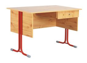 Nóra_7.5 egyfiókos tanári asztal