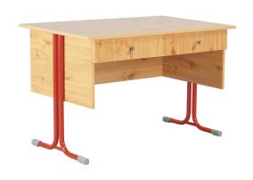 Nóra_8 kétfiókos tanári asztal