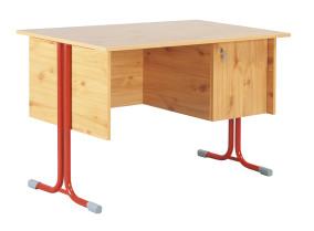 Nóra_9 tanári asztal fiókos szekrénnyel