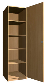 SZ-002 Egyajtós polcos szekrény