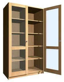 SZ-008 Üvegajtós szekrény