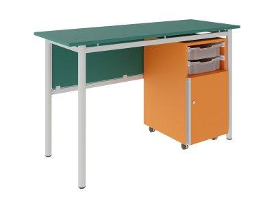 FLEX 2 GRATNELL'S tanári asztal fiókos szekrényes