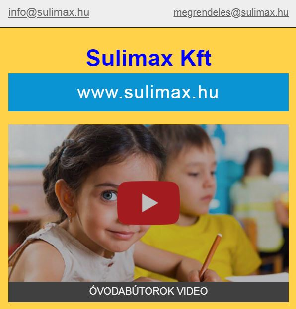 Sulimax Kft Júliusi Óvodabútor akció 2021