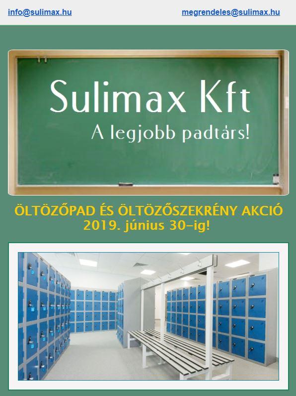 Sulimax öltözőbútor akció