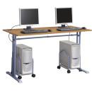 Alfa kétszemélyes állítható számítógépasztal
