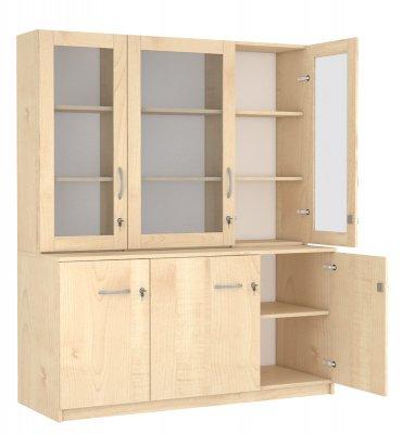 SZ-009 Háromrészes alul zárt üvegajtós szekrény