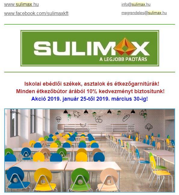 Sulimax Iskolabútor akció