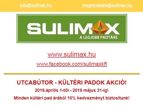 Sulimax Kft Utcabútor akció