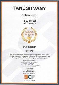 Sulimax Kft kiemeltem megbízható vállalkozás 2019